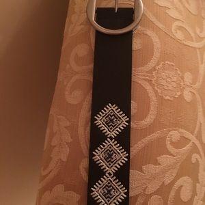 """Woman's dark brown detailed belt 51"""""""